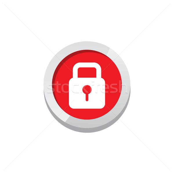 Oyun ikon imzalamak simge düğme Stok fotoğraf © vector1st