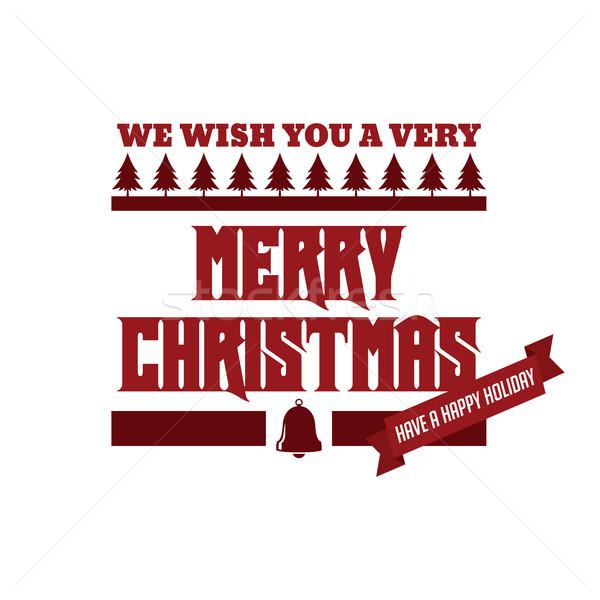 Vidám karácsony boldog új évet vektor művészet Jézus Stock fotó © vector1st