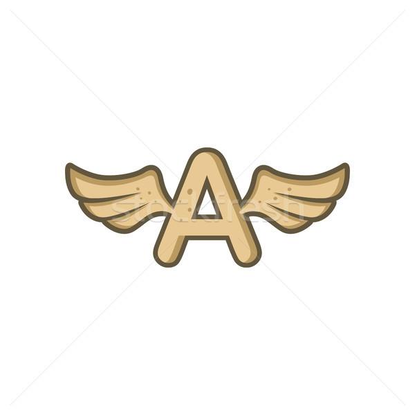 Alfabeto lettera angelo uccello ala vettore Foto d'archivio © vector1st