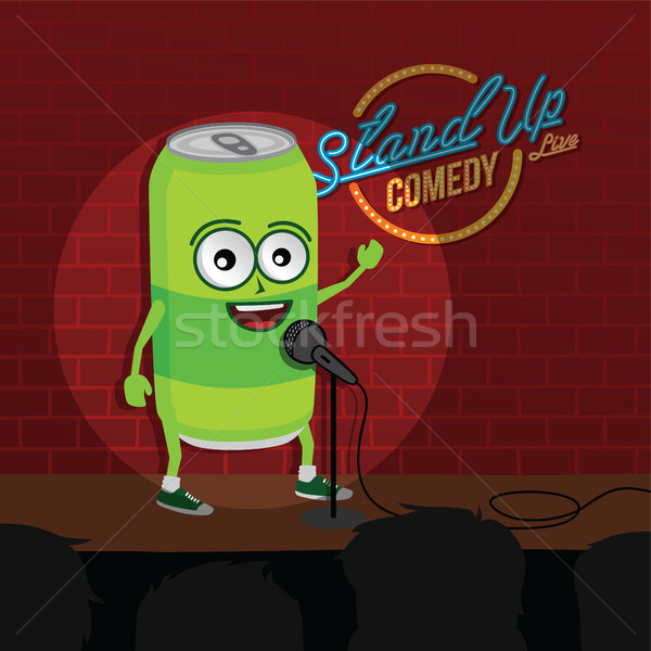 stand up comedy soft drink open mic Stock photo © vector1st