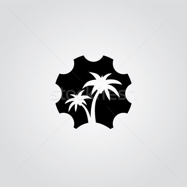 cog setting service logo art theme Stock photo © vector1st