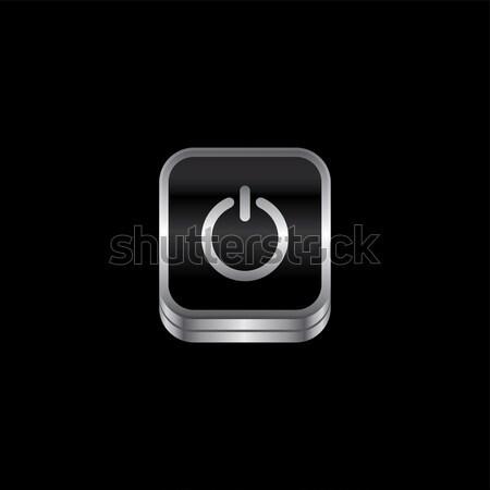 金属 プレート アイコン ボタン ベクトル 芸術 ストックフォト © vector1st