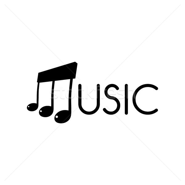 music key note orchestra song logo logotype Stock photo © vector1st