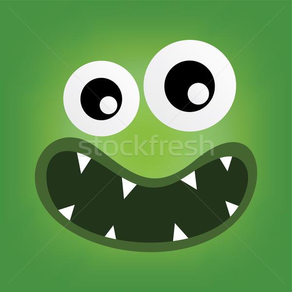 Vert monstre personnage visage vecteur art Photo stock © vector1st