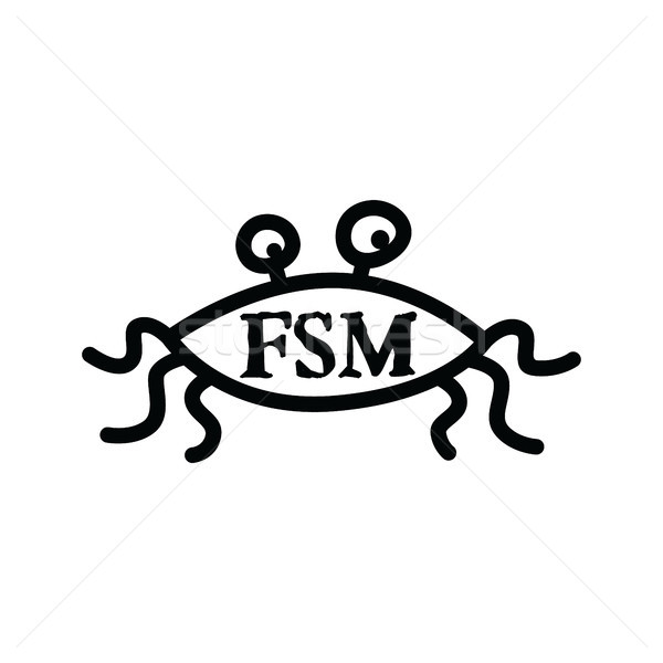 Flying Spaghetti Monster - Atheism Satyr God Parody Stock photo © vector1st