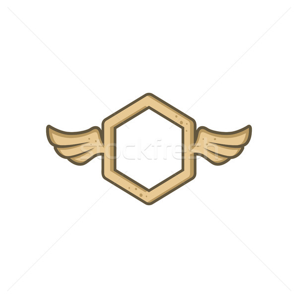 dimension shape with angel bird wing Stock photo © vector1st