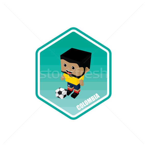 Fútbol Colombia vector arte Cartoon Foto stock © vector1st