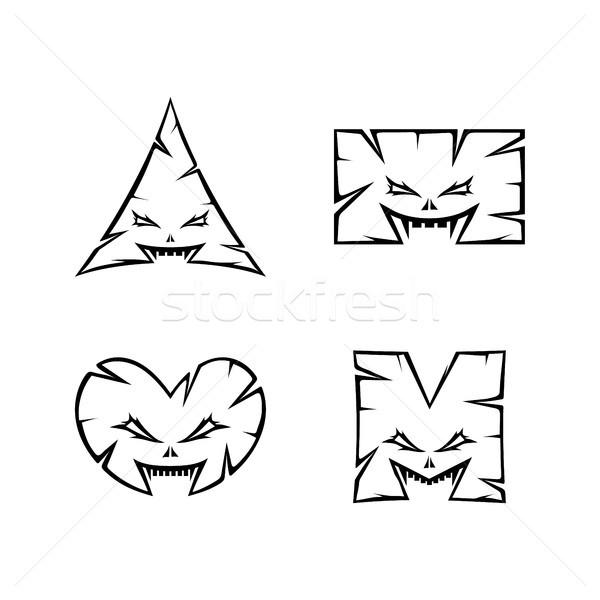 Monstro assinar símbolo vetor arte Foto stock © vector1st