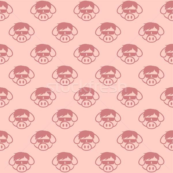 Cerdo cerdo tocino Foto stock © vector1st