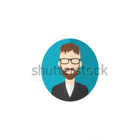 Férfi rajzfilmfigura avatar felhasználó kép arc Stock fotó © vector1st