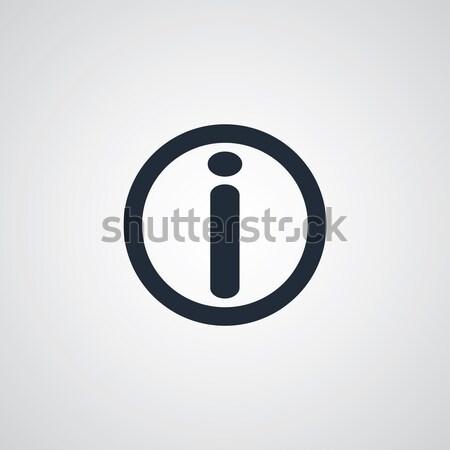 Bilgi ikon navigasyon vektör sanat örnek Stok fotoğraf © vector1st