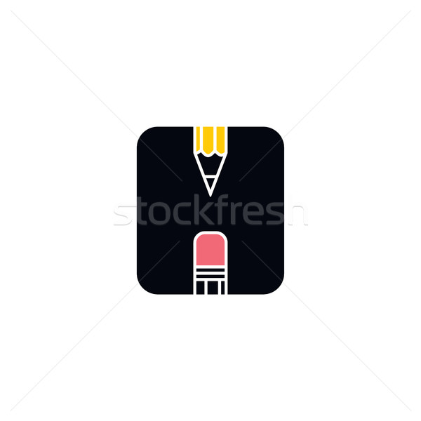pencil icon theme Stock photo © vector1st