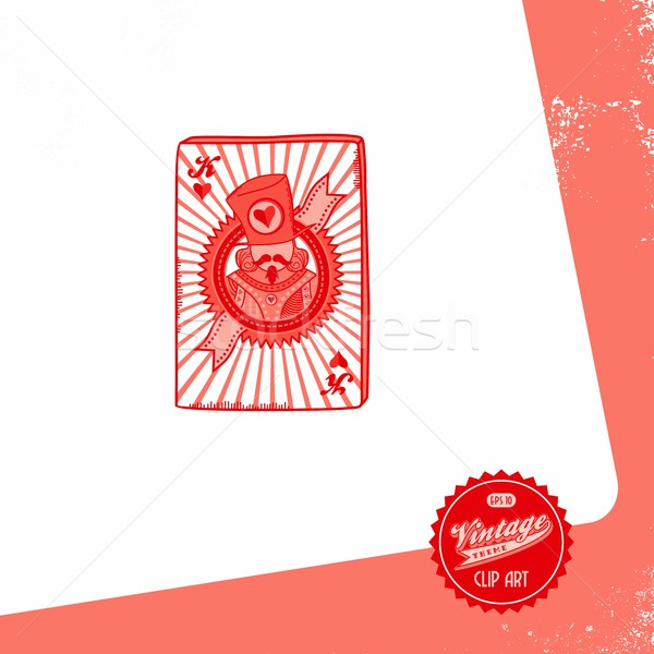 Poker carte vecteur graphique art Photo stock © vector1st