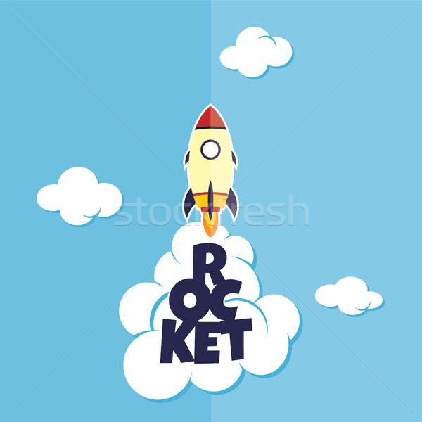 rocket ship launch Stock photo © vector1st