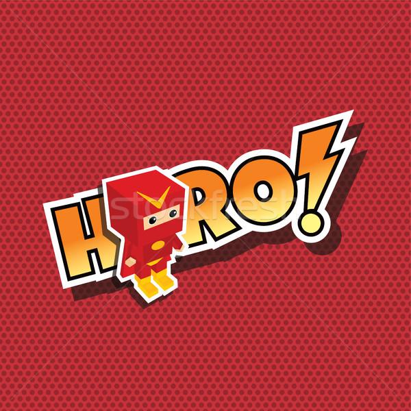 Muhteşem süper kahraman karikatür vektör sanat örnek Stok fotoğraf © vector1st