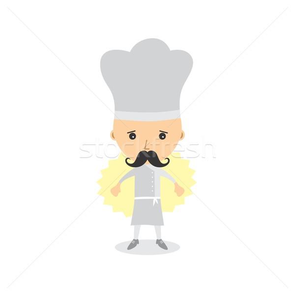 chef cartoon character Stock photo © vector1st