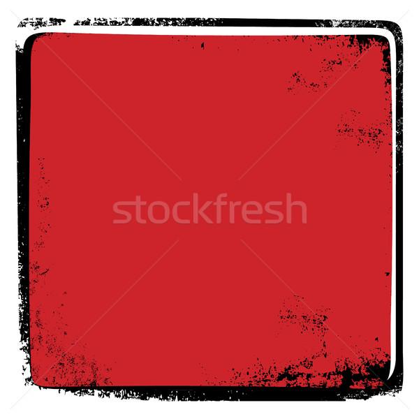 Koszos törött oldal keret klasszikus retro Stock fotó © vector1st