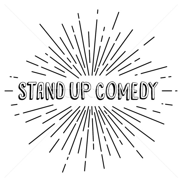Stand up comédie texte montrent Photo stock © vector1st