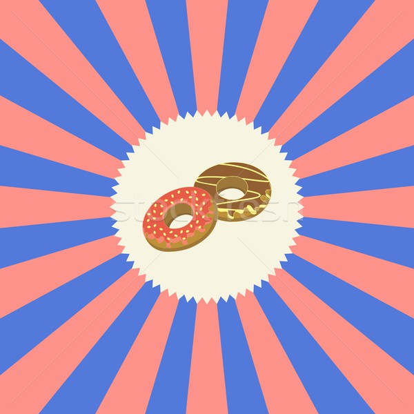 food and drink theme donut Stock photo © vector1st