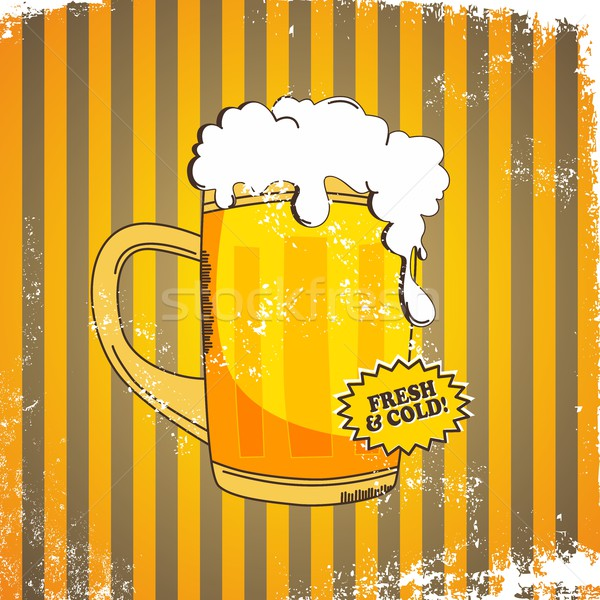 cold beer Stock photo © vector1st