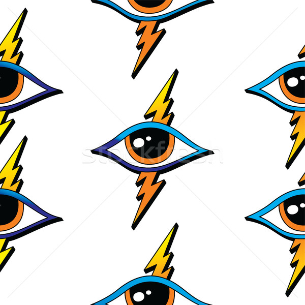 seamless one eye pattern Stock photo © vector1st