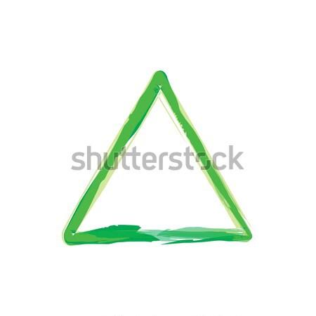 треугольник цвета кадр вектора искусства Сток-фото © vector1st