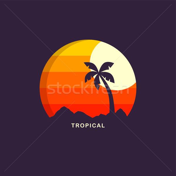 Spiaggia tempo vettore arte Foto d'archivio © vector1st