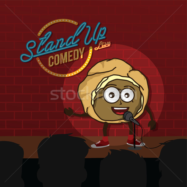 stand up comedy cream puff open mic Stock photo © vector1st