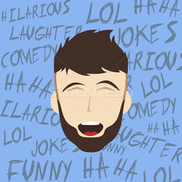 funny laughing guy Stock photo © vector1st
