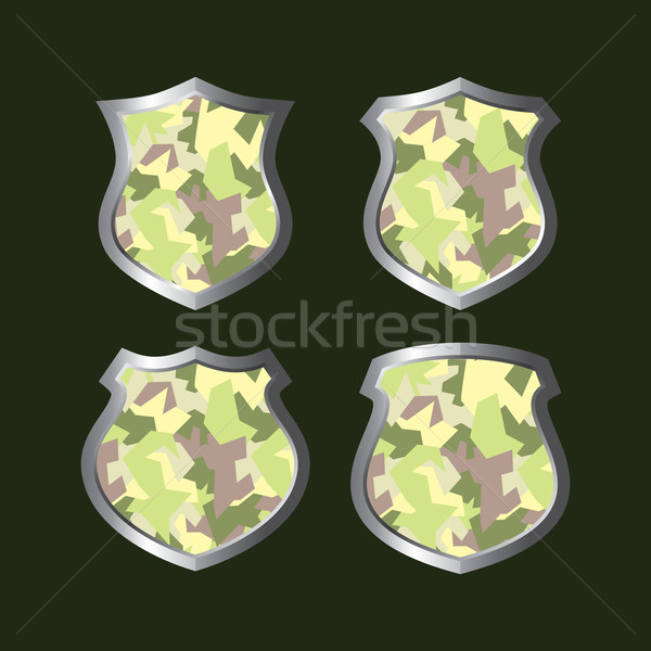 army camouflage shield Stock photo © vector1st