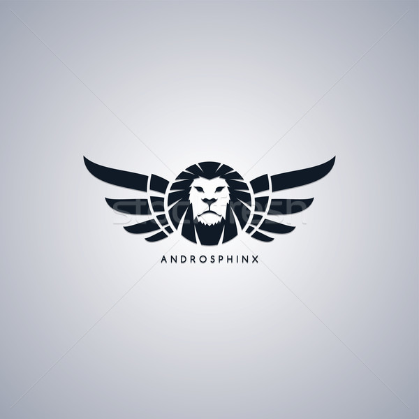 lion theme androsphinx sign Stock photo © vector1st