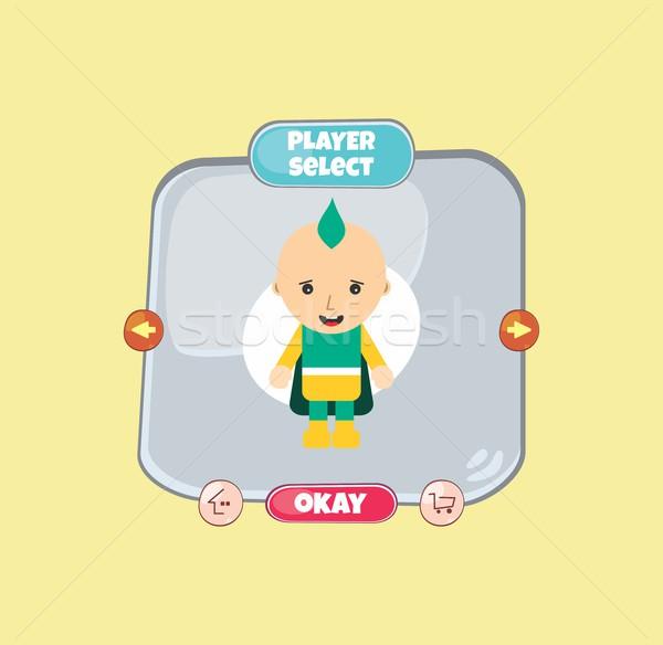 Bohater charakter opcja gry majątek Zdjęcia stock © vector1st