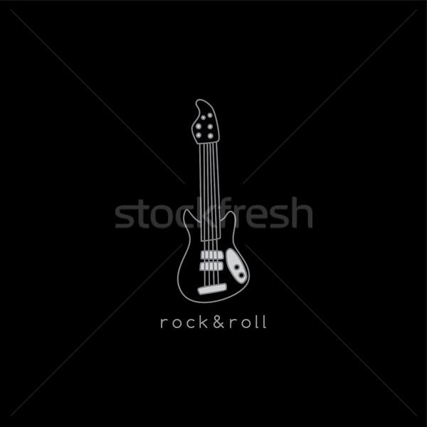 Guitarra eléctrica vector arte ilustración música Foto stock © vector1st