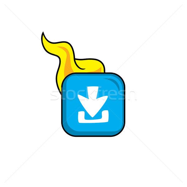 ダウンロード ホット 難 アイコン ボタン ベクトル ストックフォト © vector1st