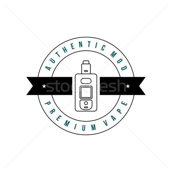 Elettrici sigaretta personale retro etichetta badge Foto d'archivio © vector1st