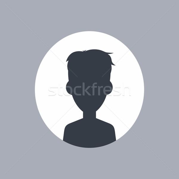 неизвестный мужчины силуэта вектора искусства иллюстрация Сток-фото © vector1st