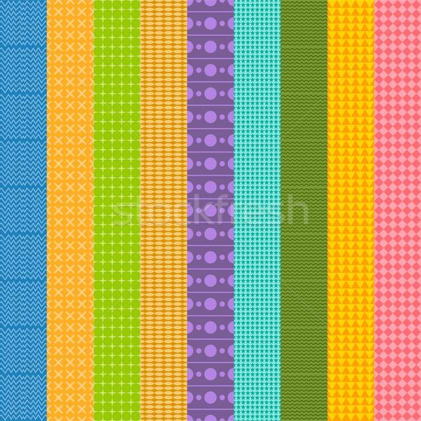 Nativo padrão simples vetor arte ilustração Foto stock © vector1st