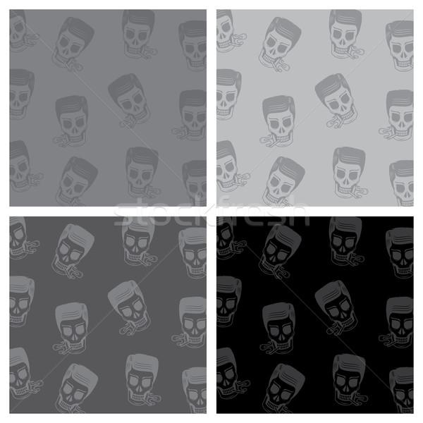 skull background pattern Stock photo © vector1st