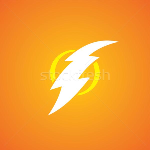 Thunder signe vecteur art Photo stock © vector1st