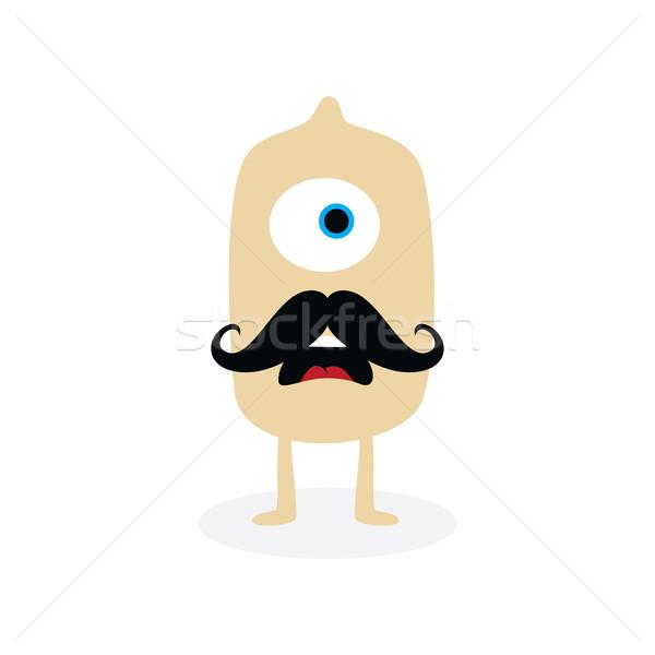 Heureux peu monstre personnage vecteur art Photo stock © vector1st