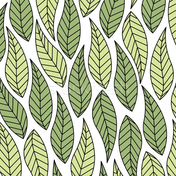Levelek zöld friss vektor művészet illusztráció Stock fotó © vector1st