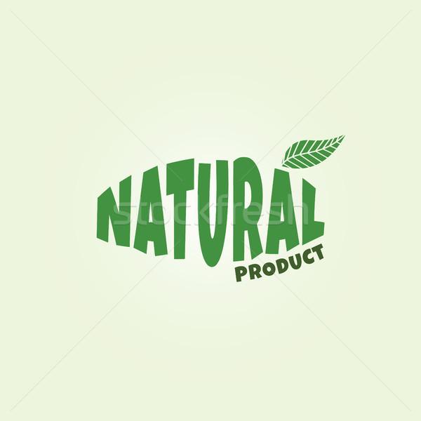 çevre dostu doğal etiket organik ürün etiket Stok fotoğraf © vector1st