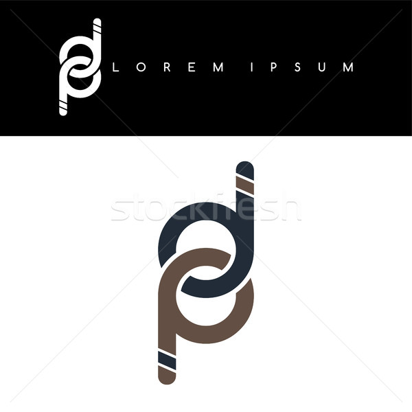 initial letter linked circle lowercase logo background Stock photo © vector1st