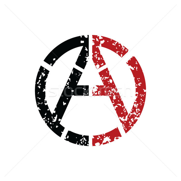 Anarchy Atheism Socialist Logo - Logotype Stock photo © vector1st