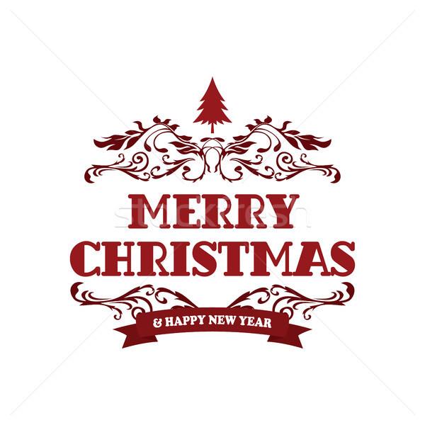 веселый Рождества с Новым годом вектора искусства знак Сток-фото © vector1st