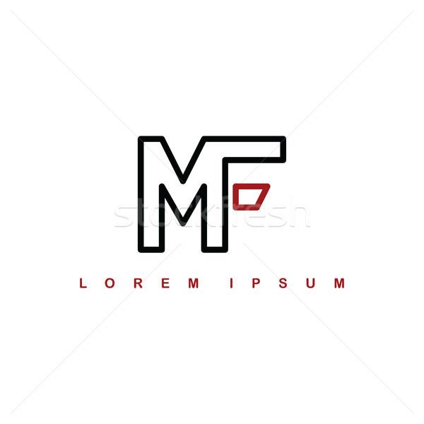 mf alphabet letter art theme logo logotype Stock photo © vector1st