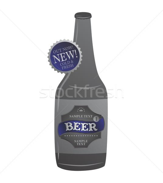 пива Label вектора графических искусства дизайна Сток-фото © vector1st
