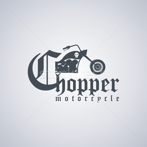 chopper motorcycle Stock photo © vector1st