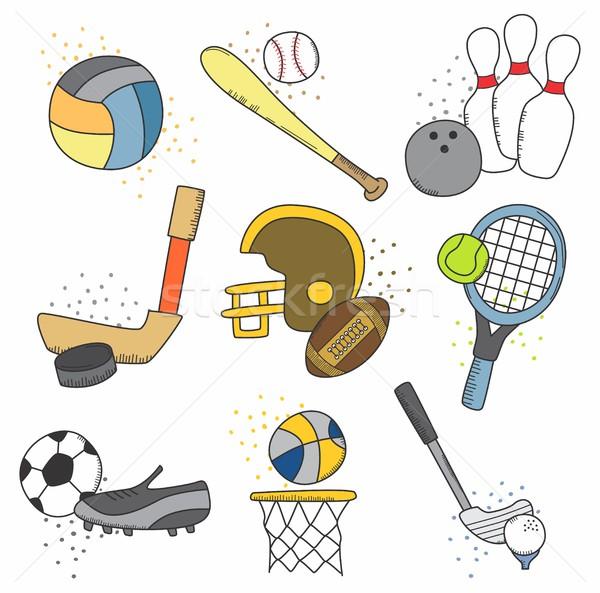 sports theme Stock photo © vector1st