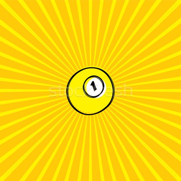 ビリヤード ボール スケッチ いたずら書き ベクトル 芸術 ストックフォト © vector1st